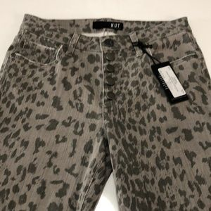NWT:  Kut from the kloth grey spotted jeans